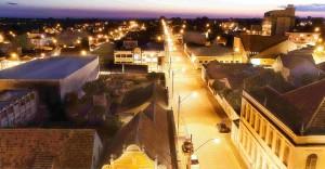 vista cidade noite