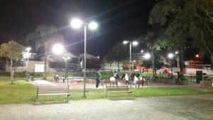 Praça da Polônia mais iluminada - mais segurança para todos os frequentadores
