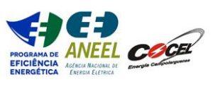 logotipos cocel, aneel e PEE projeto de efoconência energética
