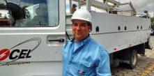 foto de adimir da silveira, o zeca, eletricista da Cocel há 34 anos