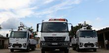 foto dos novos caminhões da cocel