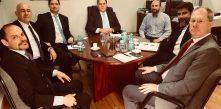 membros do ministério de ciência e tecnologia do governo federal participando de reunião com a diretoria da Cocel