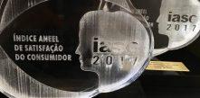 foto dos dois troféus do prêmio IASC 2018 entregue pela ANEEL à COCEL