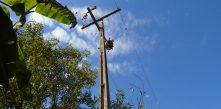 Foto de poste que teve transformador roubado na região do Felpudo em Campo Largo