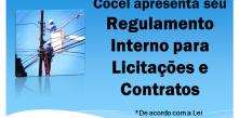 Cocel apresenta o Regulamento Interno para Licitações e Contratos