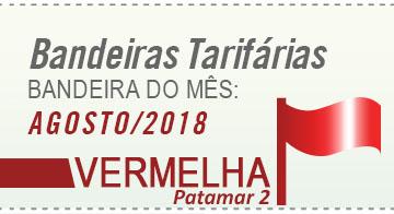 bandeira tarifária vermelha para o mês de agosto