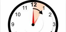 relógio marcando mudança do horário de verão