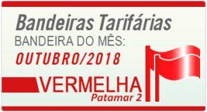 bandeira tarifária ANEEL mês de outubro vermelha