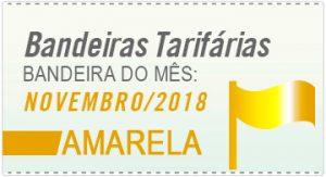 bandeira tarifária aneel novembro 2018 amarela