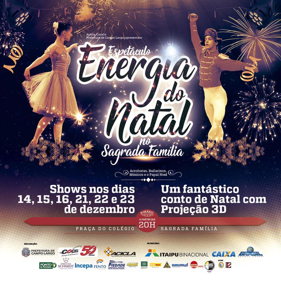 convite da cocel para energia do natal 2018 na praça do sagrada