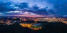 foto da iluminação pública de Campo Largo